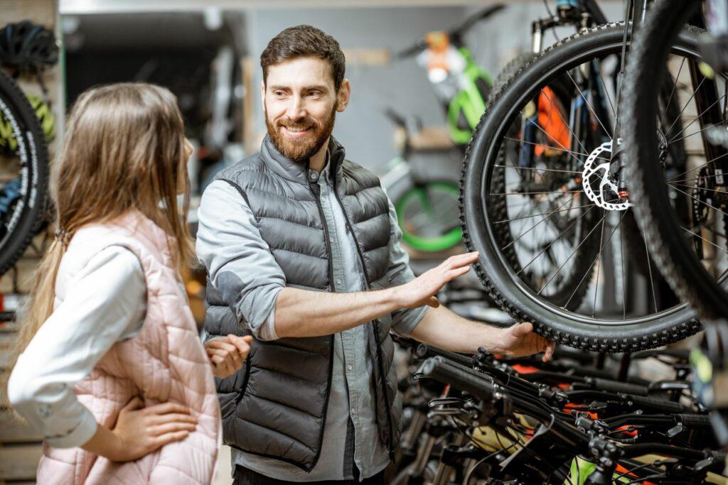Ekspozycja rowerów w sklepie