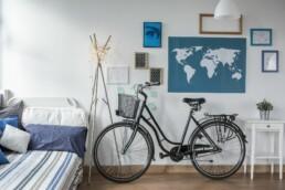 Przechowywanie roweru zimą w mieszkaniu
